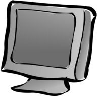 gray laptop as graphic illustration