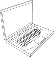 drawn sketch of a laptop
