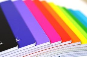 Notebooks with multi-colored covers