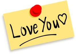 Clipart of love you note