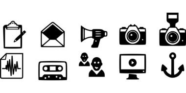 icons communication drawing
