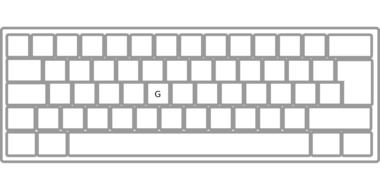 clipart of the white computer keyboard