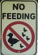 no feeding warning sign