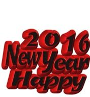 3D lettering 2016 New Year Happy