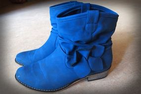 boots learn footwear winter blue