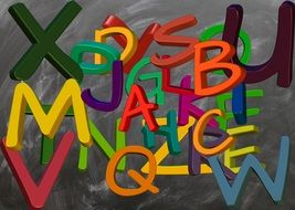 colorful abc alphabet letters