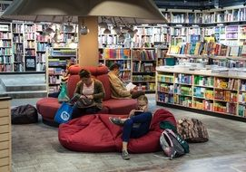 reading zone in a bookstore