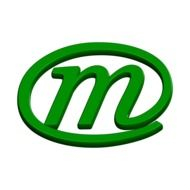 the abc letter m in the green circle