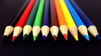 pencils colors rainbow school