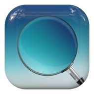 button magnifying glass search