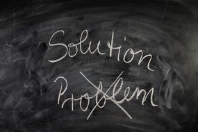 problem and solution on the board