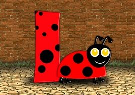 Ladybug letters clipart