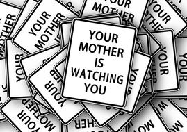 shield board yourmother is watching yoy drawing