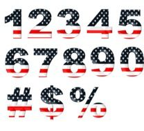 numbers in american flag pattern