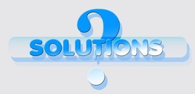 blue question mark about solution