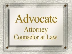 Lawyer door sign clipart