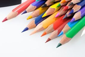 colored pencils pointed