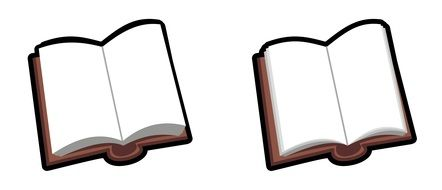 Two brown books drawing