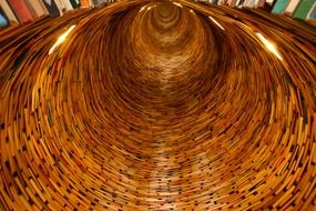 fascinating tunnel in the library