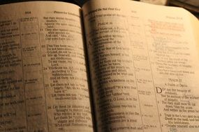 open bible for prayer