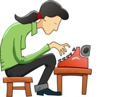 Clipart of typewriter