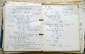 mathematical formulas in the 1960 notebook