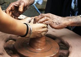 people make pottery out of clay