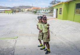 Curacao school cute students