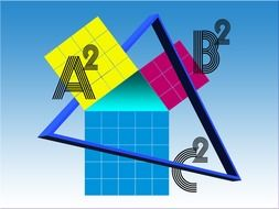 Pythagoras theorem in a colorful picture