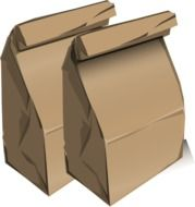 brown paperbags lunch bags