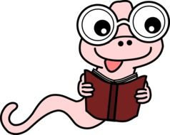 bookworm book cartoon drawing