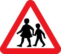 road sign children near school