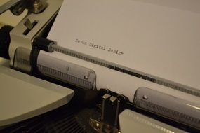 Paper in a typewriter