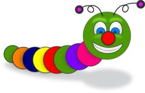 worm book smile colorful cartoon drawing