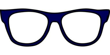 painted blue glasses