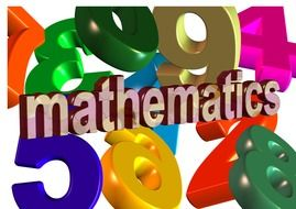 mathematics colorful 3D inscription