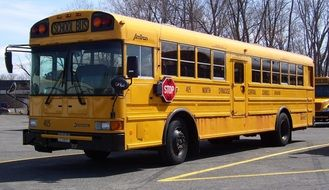 photo of school bus in America