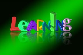 learning letters on a green background