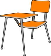 desk school and chair drawing