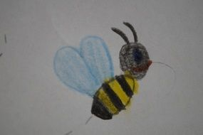 children drawing of a bee