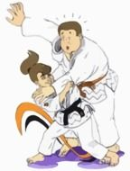 judo wrestling drawing