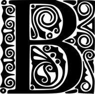 Beautiful black and white b letter