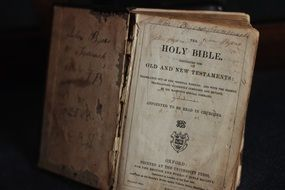 old open bible