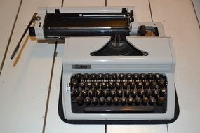 vintage typewriter on the table