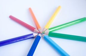 Pencils of colors of rainbow