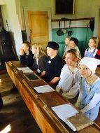 group of kids in School Museum, Sweden
