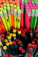 huge selection of pencils of different colors for school