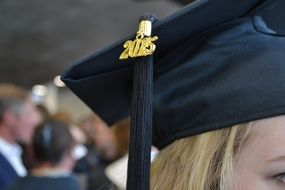 square academic cap on a head
