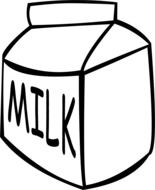 painted milk carton