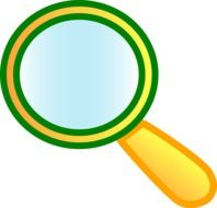 magnifying glass cartoon drawing